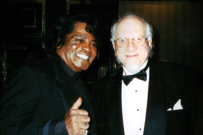 James Brown and Henry Stone out  on the town.