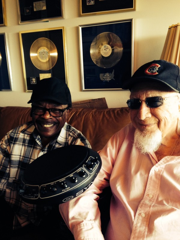 Producer Wiliie Clarke, TK Productions' Henry Stone, and the legendary Pollard Syndrum