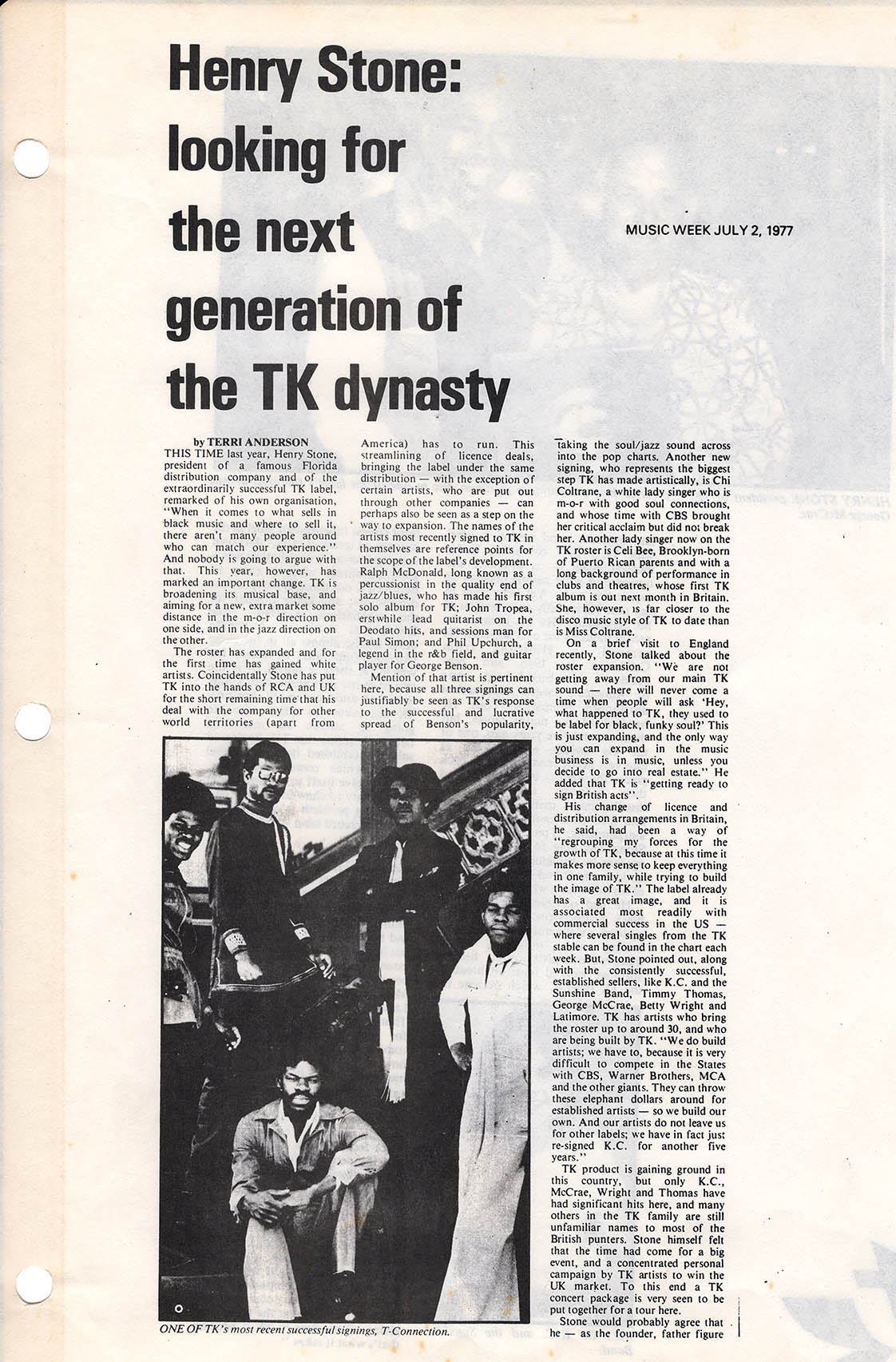 tk productions article